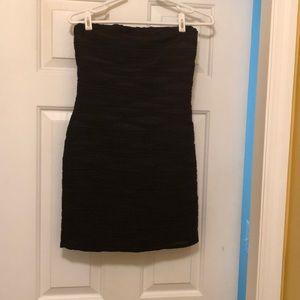 Black Strapless Dress - Next to New - Size M
